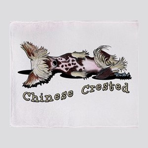 Flirty Chinese Crested Throw Blanket