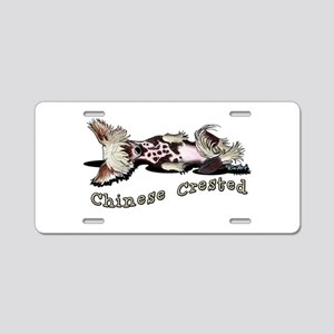 Flirty Chinese Crested Aluminum License Plate