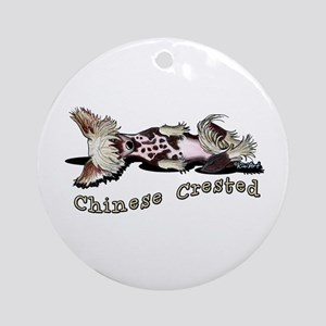 Flirty Chinese Crested Ornament (Round)