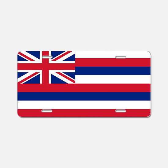 Hawaii State Flag Aluminum License Plate