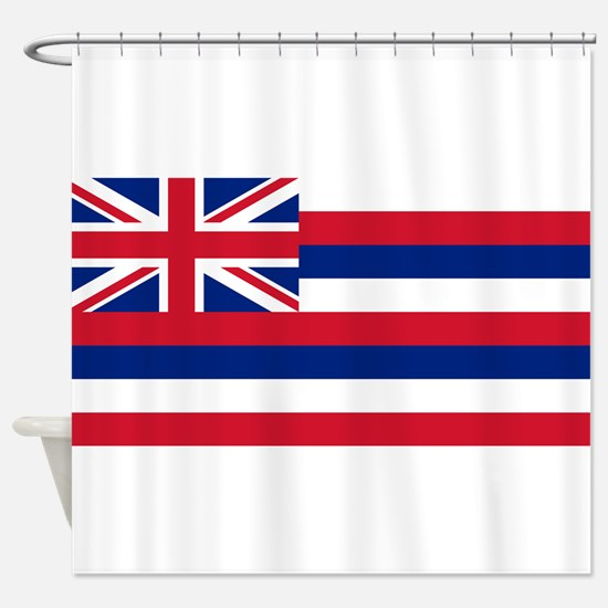 Hawaii State Flag Shower Curtain