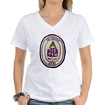 USS ACADIA Women's V-Neck T-Shirt