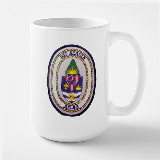 USS ACADIA Large Mug