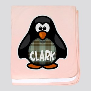 Clark Tartan Penguin baby blanket
