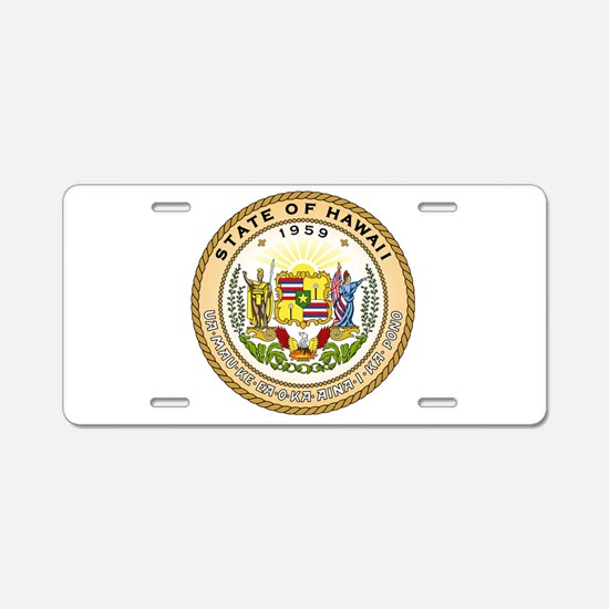 Hawaii State Seal Aluminum License Plate