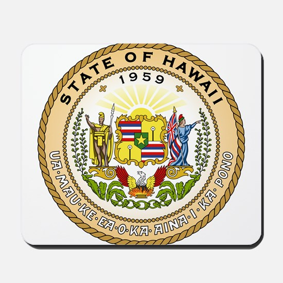 Hawaii State Seal Mousepad
