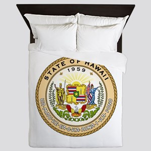 Hawaii State Seal Queen Duvet
