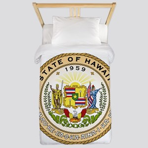 Hawaii State Seal Twin Duvet