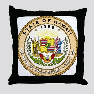 Hawaii State Seal Throw Pillow