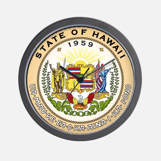 Hawaii State Seal Wall Clock