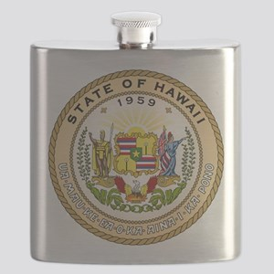 Hawaii State Seal Flask