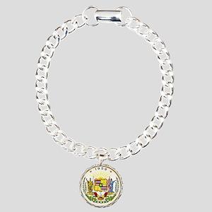 Hawaii State Seal Charm Bracelet, One Charm