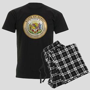 Hawaii State Seal Men's Dark Pajamas