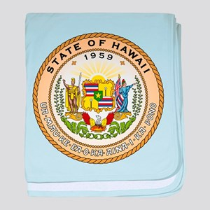 Hawaii State Seal baby blanket