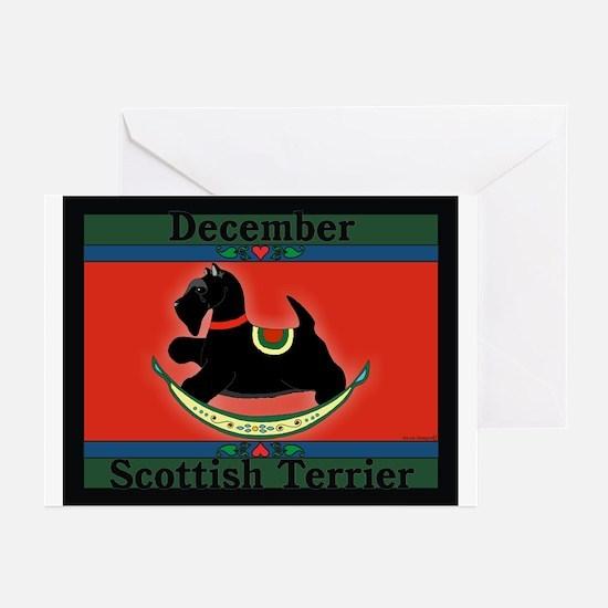 Scottish Terrier Rocking Dog Greeting Cards (Packa
