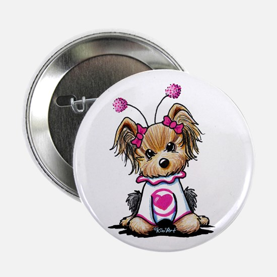 "Yorkie Luv Bug 2.25"" Button"