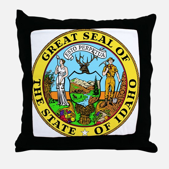 Idaho State Seal Throw Pillow