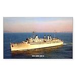 USS AJAX Sticker (Rectangle)