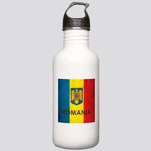 Romania Grunge Flag Stainless Water Bottle 1.0L