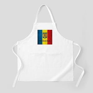 Romania Grunge Flag Apron