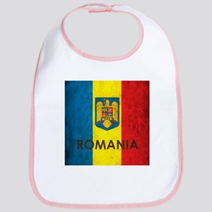 Romania Grunge Flag Bib