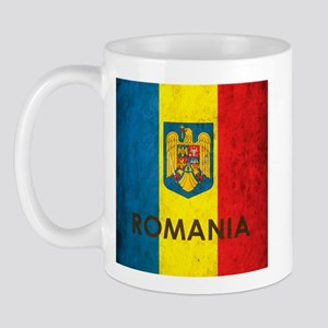 Romania Grunge Flag Mug