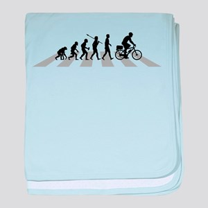 Bicycle Police baby blanket