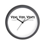 Veni, Vidi, Venti Wall Clock