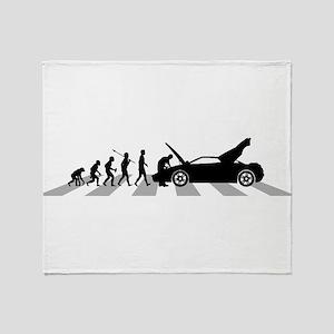 Car Mechanic Throw Blanket