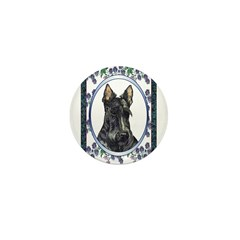 Scottish Terrier Designer Mini Button (100 pack)