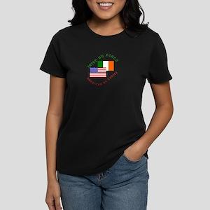 Irish Birth American Choice Women's Dark T-Shirt