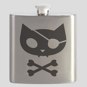 Pirate Kitty Flask (version 2)