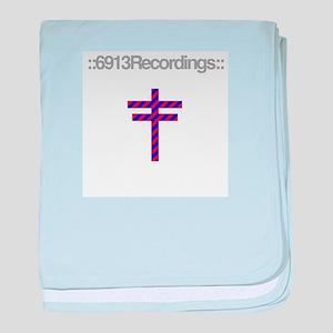 6913 Recordings logo t-shirt baby blanket