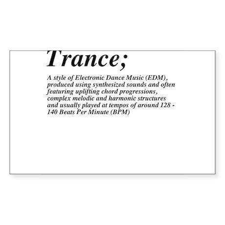 Trance definition Sticker (Rectangle)