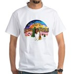 XMusic2-Collie (SW) White T-Shirt
