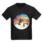 XMusic2-Collie (SW) Kids Dark T-Shirt
