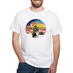 XMusic2-Collie (Tri) White T-Shirt