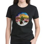 XMusic2-Collie (Tri) Women's Dark T-Shirt