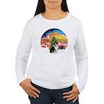 XMusic2-Collie (Tri) Women's Long Sleeve T-Shirt