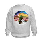 XMusic2-Collie (Tri) Kids Sweatshirt