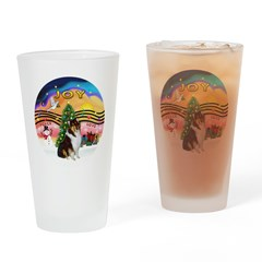 XMusic2-Collie (Tri) Drinking Glass