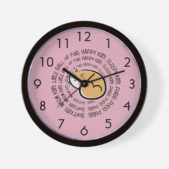 Sing Soft Kitty Wall Clock