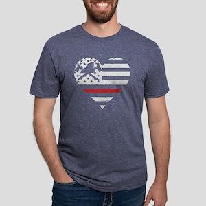 I Love My Firefighter Girlf Mens Tri-blend T-Shirt