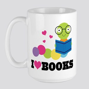 Bookworm I Heart Books Large Mug