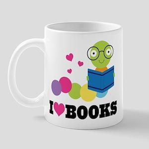 Bookworm I Heart Books Mug