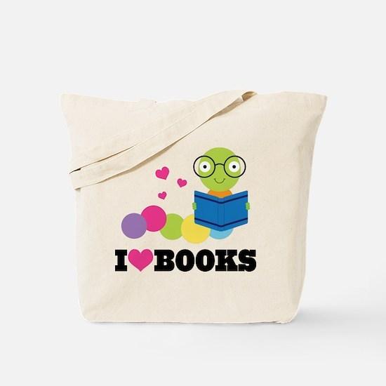 Bookworm I Heart Books Tote Bag