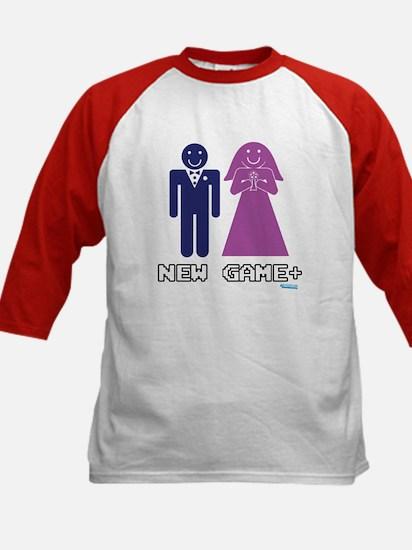 New Game + Marriage Kids Baseball Jersey