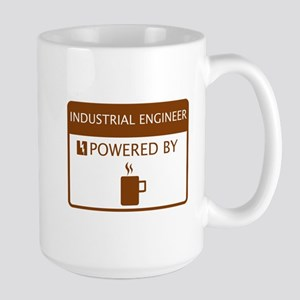 Industrial Engineer Powered by Coffee Large Mug