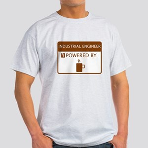 Industrial Engineer Powered by Coffee Light T-Shir