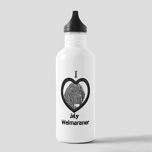 B@W Weimaraner 1 Stainless Water Bottle 1.0L